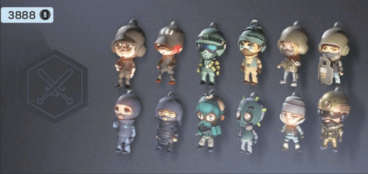 ATTACKER CHIBI CHARMS - R6SKIN