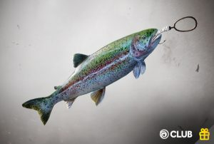 Rainbow Trout Charm