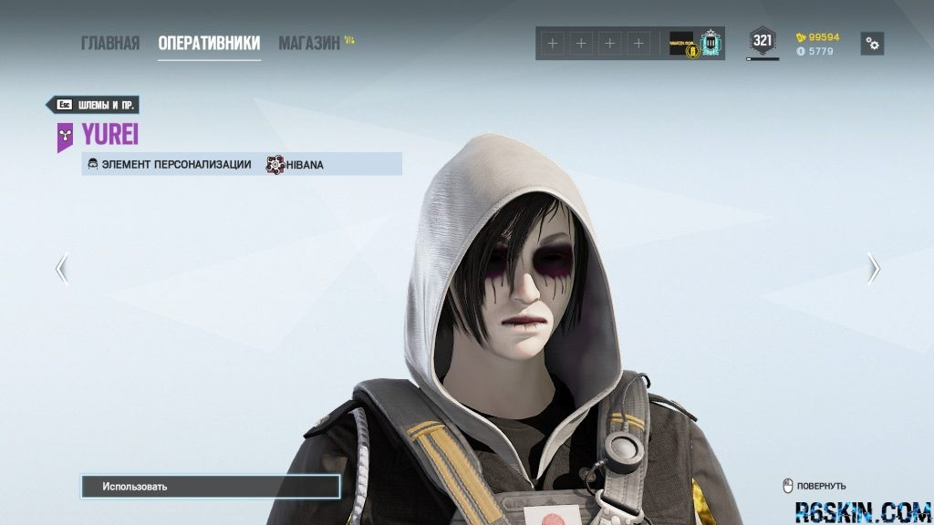 Yurei headgear