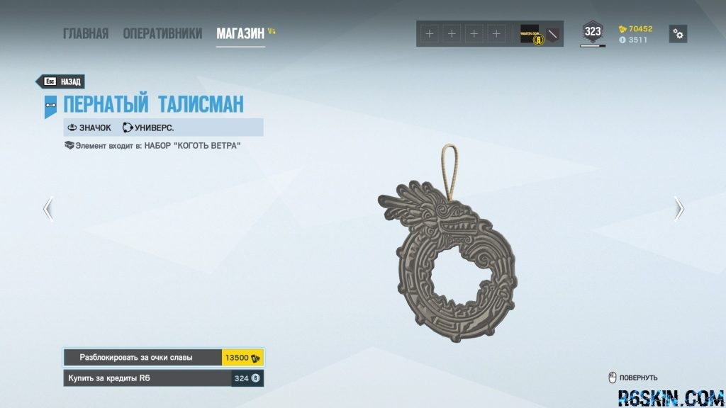 Feathered Talisman charm