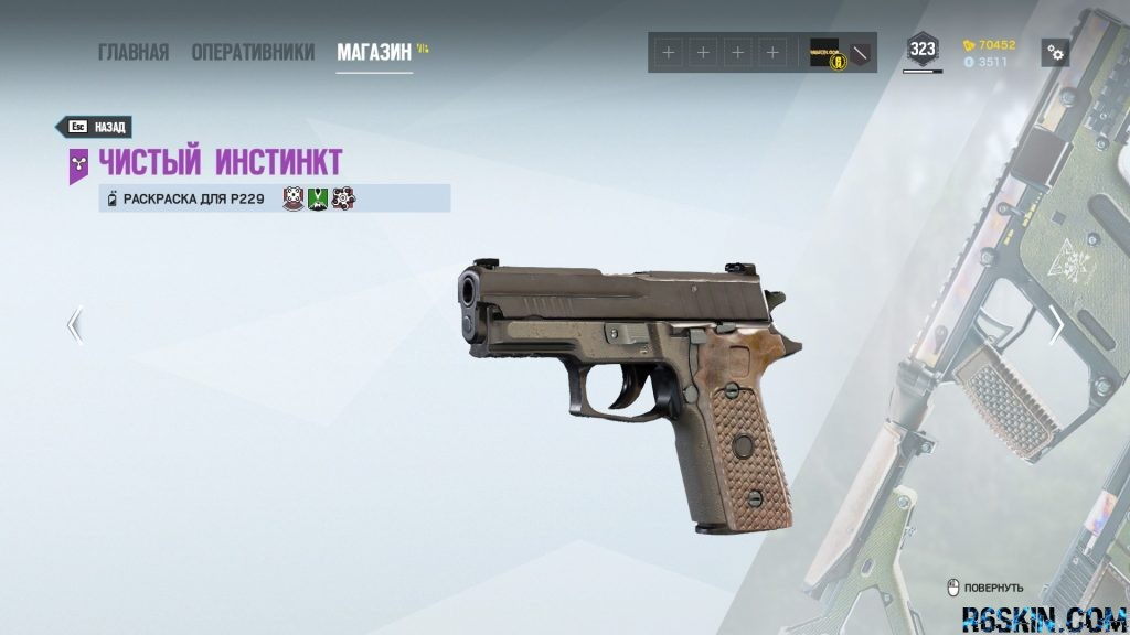 Wild Instinct weapon skin for the P229