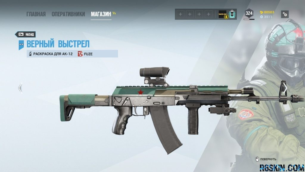 Clean Shot weapon skin for the AK-12