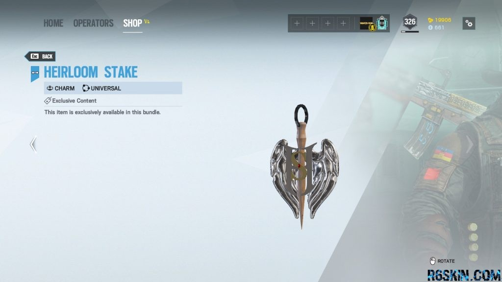 Heirloom Stake charm