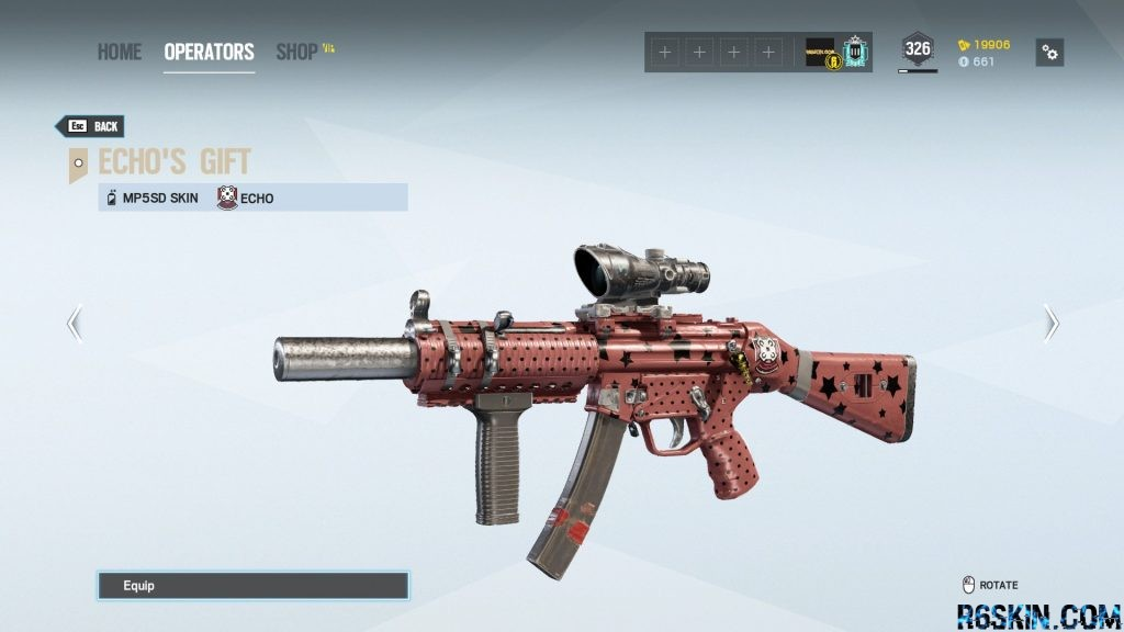 Echo's Gift weapon skin for the MP5SD