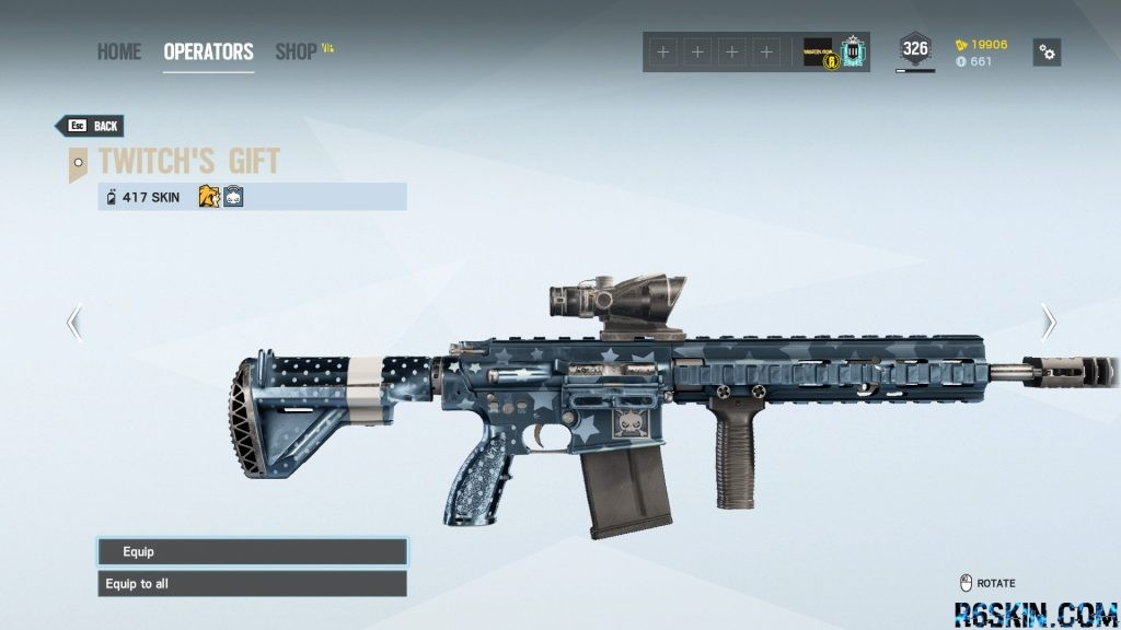 Twitch's Gift weapon skin for the 417