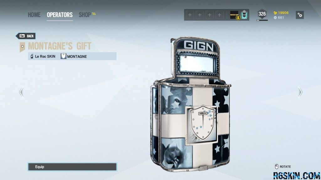 Montagne's Gift weapon skin for the Le Roc