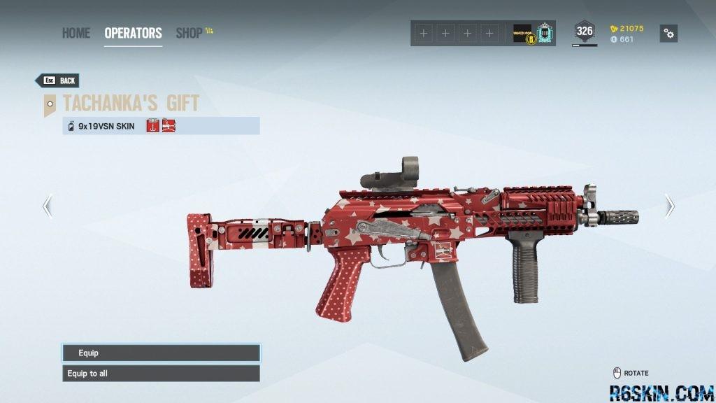 Tachanka Gift weapon skin for the 9x19VSN