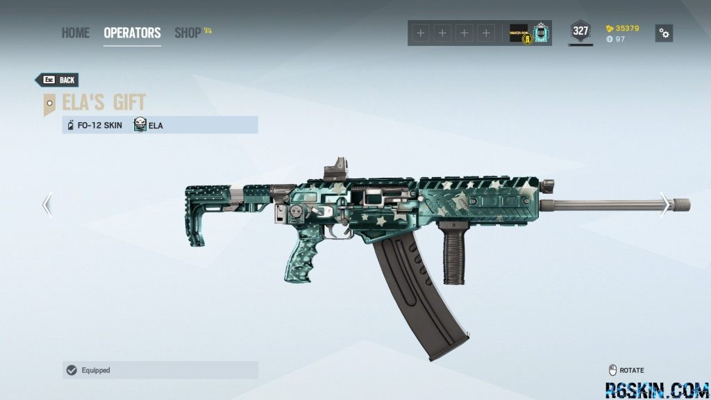 Ela's Gift weapon skin for the FO-12