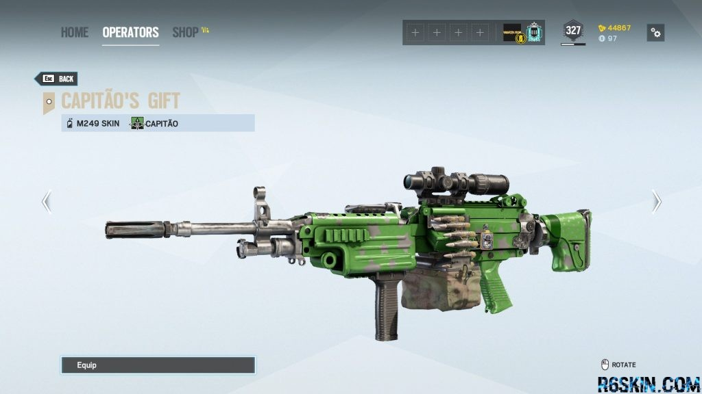 Capitão's Gift weapon skin for the M249