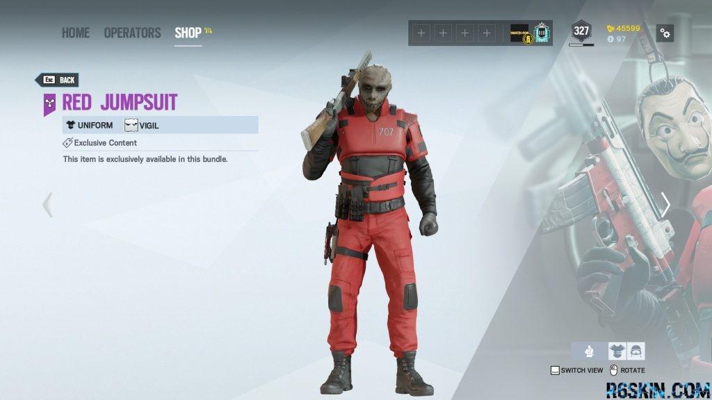 Red Jumpsuit uniform
