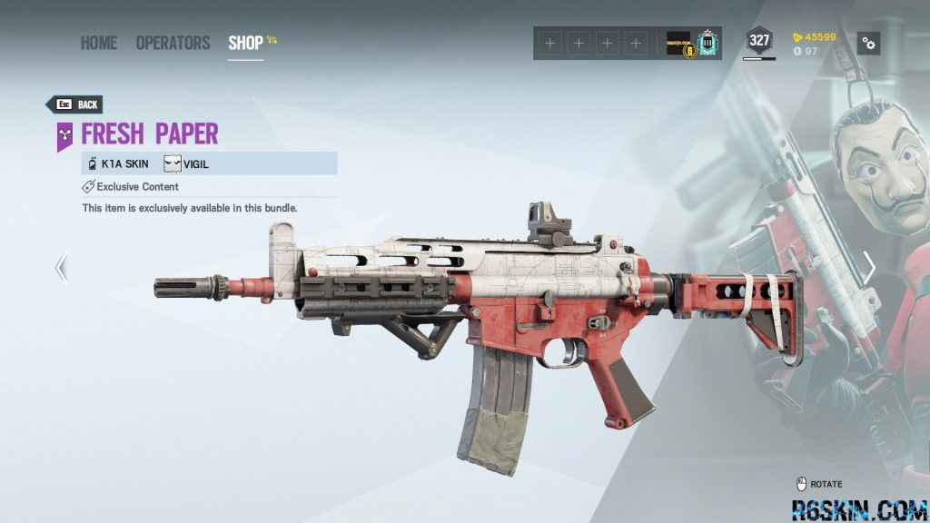 Fresh Paper weapon skin for the K1A
