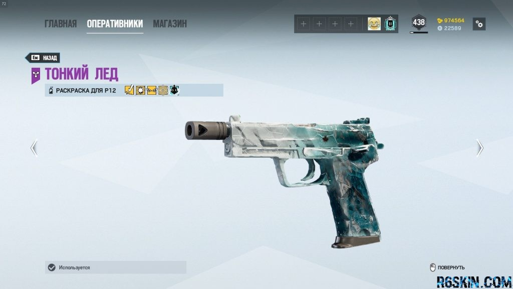 P12 Black Ice weapon skin