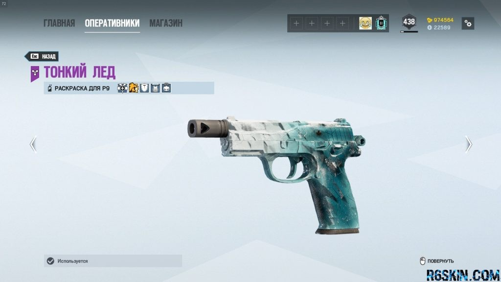 P9 Black Ice weapon skin
