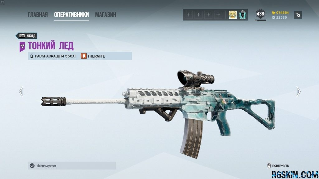 556XI  Black Ice weapon skin