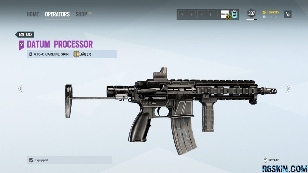 Datum Processor weapon skin for the 416-C Carbine
