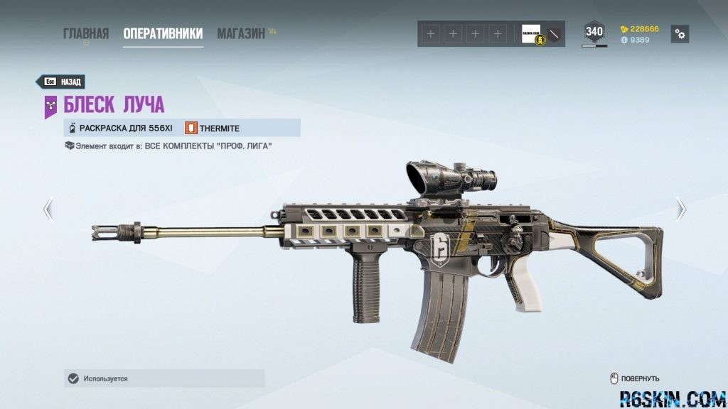 Luster Beam weapon skin for the 556XI