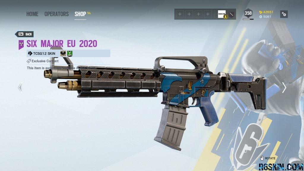 Six Major EU 2020 weapon skin