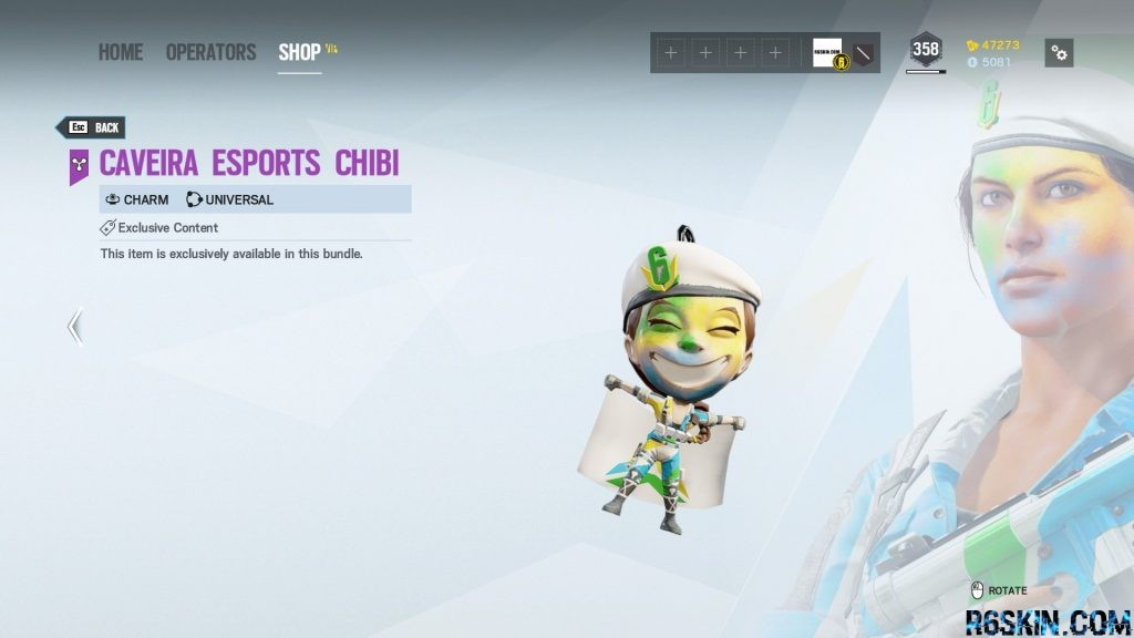 Caveira Esports Chibi charm