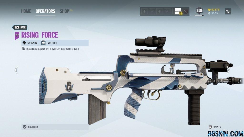 Rising Force weapon skin