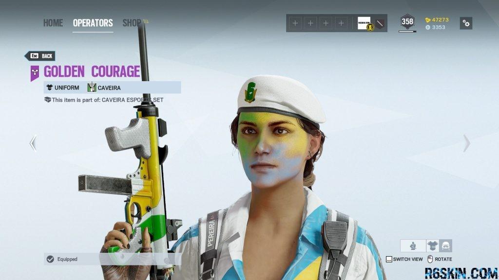 Golden Courage headgear