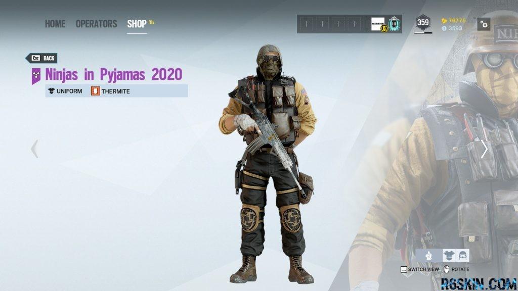 Ninjas in Pyjamas 2020 uniform