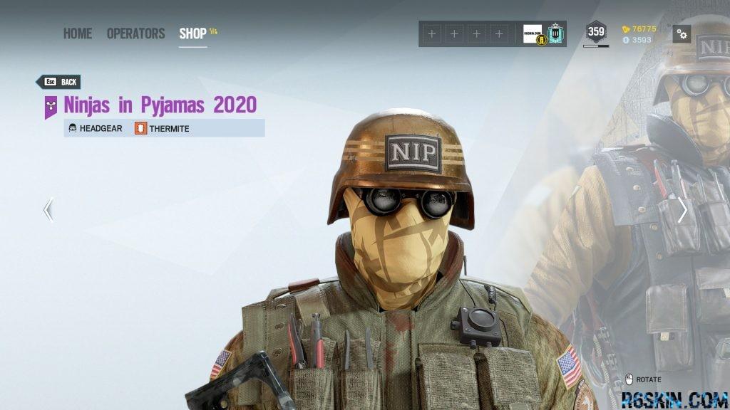 Ninjas in Pyjamas 2020 headgear