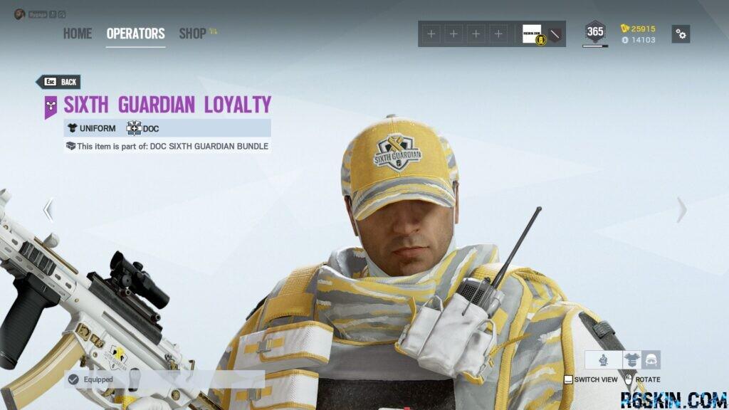 Sixth Guardian Loyality headgear
