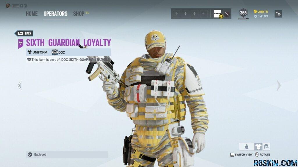 Sixth Guardian Loyality uniform