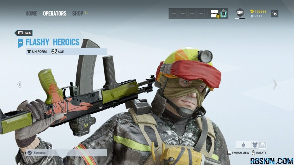 Flashy Heroics headgear