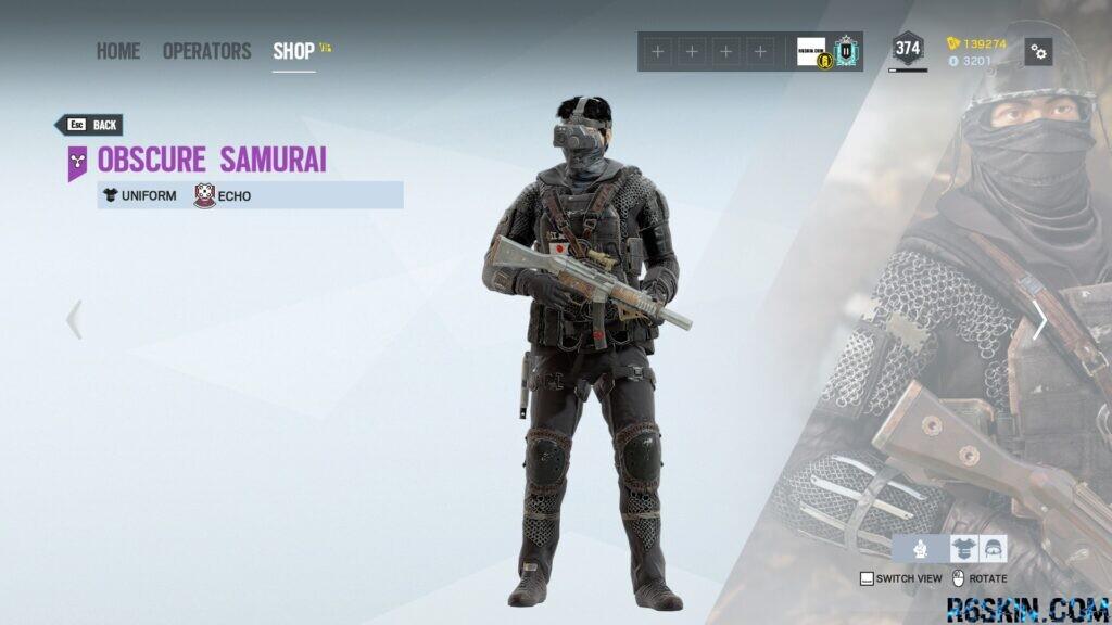 Obscure Samurai uniform