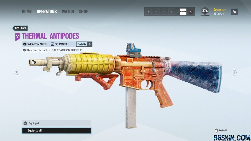 Thermal Antipodes seasonal weapon and attachment skin